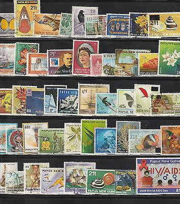 Stamps of Papua New Guinea-45+ Different Used.