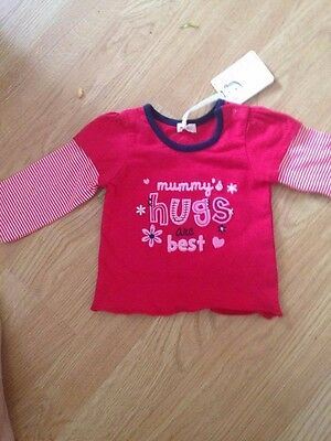 Baby girls long sleeved top size 3-6m BHS
