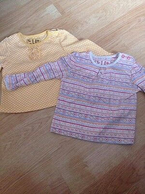 Baby Girls Pk 2 Long sleeve tops 3-6m from Sainsburys