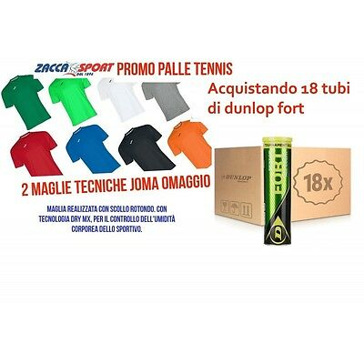 DUNLOP Fort All Court 18 Tubi/4 palle + 2 Maglie JOMA Combi