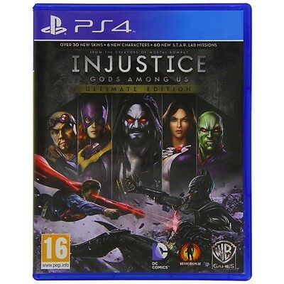 Injustice: Gods Among Us Ultimate Edition (PS4) NEW AND SEALED - QUICK DISPATCH