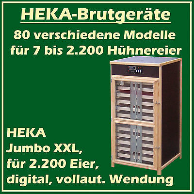 "HEKA Jumbo XXL - fully-automatic egg-incubator for 2200 eggs - ""made in Germany"""