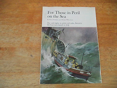 Lifeboat   Very  Scarce Vintage   Magazine Article  7    2   F    E