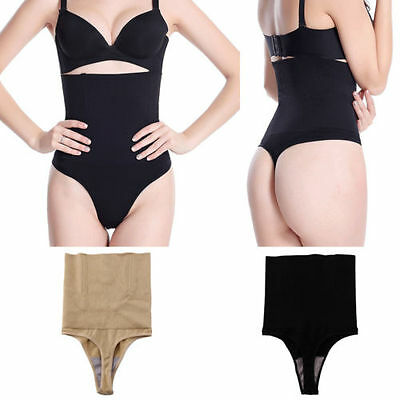 Women Control Body Shaper Thong Panty Slim High Waist Trainer Tummy Shapewear