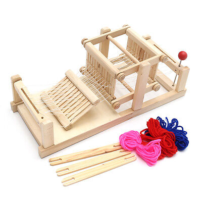 Chinese Traditional Wooden Table Weaving Loom Machine Model Hand Craft Toy Gift