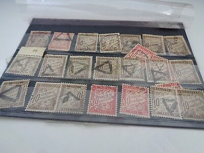 lot timbres taxe