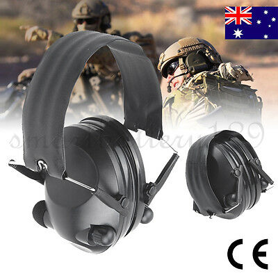 New Electronic Foldable Shooting Hunting Earmuffs Outdoor CS Sports Ear Muffs AU