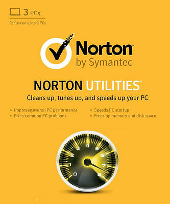 Norton Utilities 16.0 1 Year 3 PC Users Retail License - Latest Edition