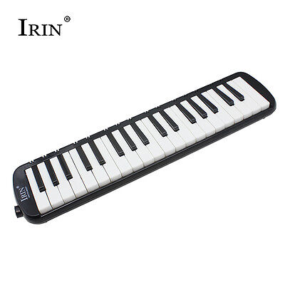 37 Piano Keys Melodica Musical Instrument for Beginners w/ Bag Black Color