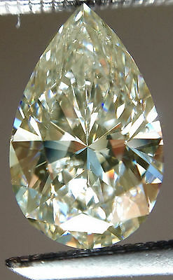 1.40ct VVS1/GENUINE OFF  WHITE COLOR LOOSE PEAR REAL MOISSANITE for ring