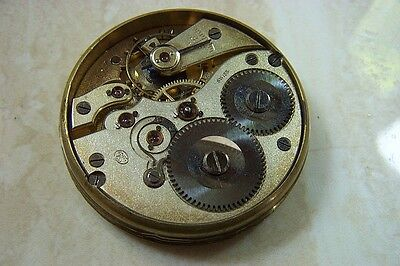 AN IWC POCKET WATCH MOVEMENT c.1910 NEEDS A SERVICE