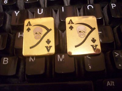"Ace Of Spades ""death  Calling Card "" Pin Set-"