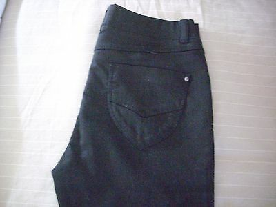 dorothy perkins ladies new  black cotton and poly  boot cut jeans size 10.