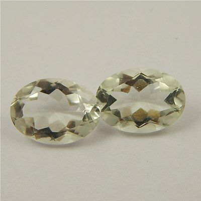 10.9 cts Natural Green Amethyst Gemstone Loose Cut Faceted Pair P#227-9