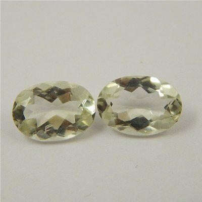 10.3 cts Natural Green Amethyst Gemstone Loose Cut Faceted Pair P#227-11