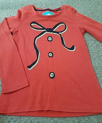 Girls Next Red Bow Top Age 4-5 Years