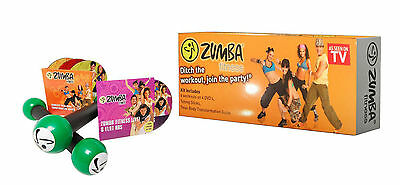 Zumba Fitness Kit-6 Workouts on 4 DVDS & 2 Toning Sticks Plus 2 Gifts - NEW