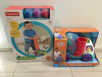 Fisher Price Scoop And Whirl Popper Baby & Bright Stars Swirl And Roll Truck