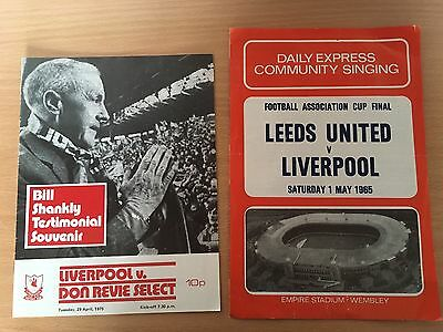 Bill Shankly Testimonial Programme Liverpool FC FA Cup Final 1965 Song Reprints
