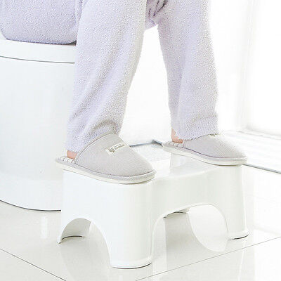 Bathroom Toilet Stool Squatty Potty Chair Seat Healthy Prevent Hemorrhoids Aid