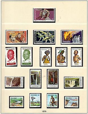 5 sets of mint nbh stamps Transkei, S Africa, 1979.