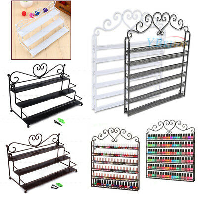 3/6 Tiers Wrought Nail Polish Rack Wall Display Organizer Stand Comestic Shelf