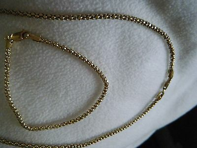 9ct yellow gold on sterling silver necklace and bracelet
