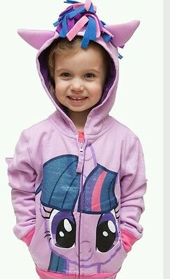 NEW My little Pony Hoodie twilight Sparkle purple  age 5-6 top jacket