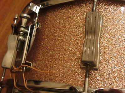Vintage 1965 Ludwig Champagne Sparkle 8 Lug Snare Drum Exc Condition