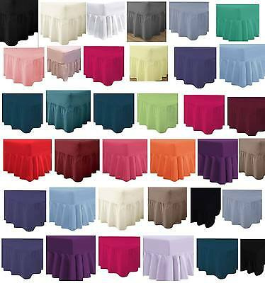 Fitted Valance Sheet Frilled base Single double King superKing Valance sheet
