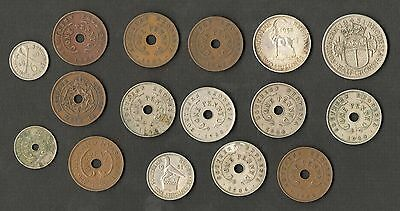 Southern Rhodesia 16 Old Coins Different By Date/Type 1934-1958 Inc Silver Coin