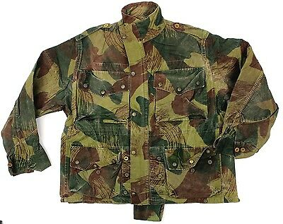 (1) BELGIAN ARMY PARA WINDPROOF SMOCK JACKET in BRUSH STROKE CAMO 1956 DATED