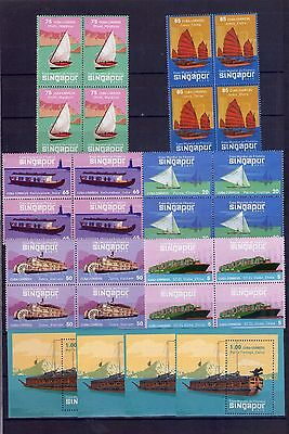 "2015, Block of 4+4 sheets ""TRANSPORTE BARCOS,  SHIP """