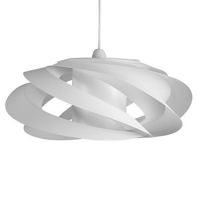 Modern White Ceiling Pendant Light Shade Spiral Lampshade Designer Lighting Home