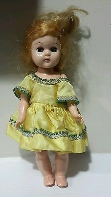 Vintage doll dress is tagged Ginger, doll is Virga (tbl3)