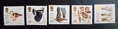 GB The Wildfowl and Wetlands Trust Birds Stamps Set Of Five 1996 MNH