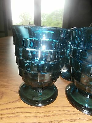 Indiana Whitehall Colony Cubist Teal Green Tumblers Set 6 Juice