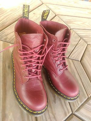 Dr. Martens Cherry Red Leather Boots Women/Ladies Size 7