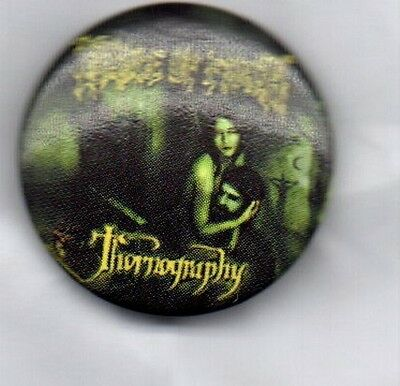 CRADLE OF FILTH THORNOGRAPHY BUTTON BADGE ENGLISH EXTREME METAL BAND  25mm PIN