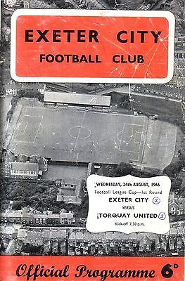 EXETER v TORQUAY 1966/67 LEAGUE CUP
