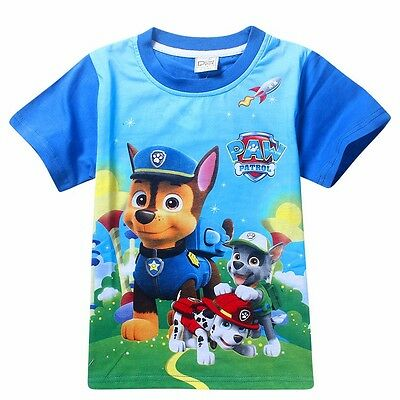 Kids Boys PAW Patrol T-Shirt Girls Tops Children Clothing Cartoon Summer Gift