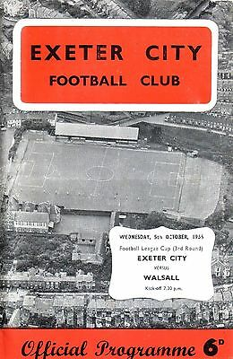 EXETER v WALSALL 1966/67 LEAGUE CUP