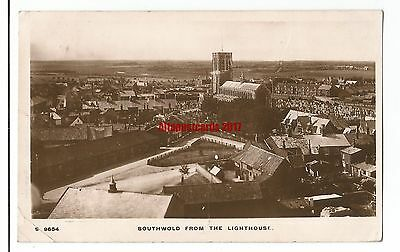 Suffolk Southwold from the Lighthouse 1916 Real Photo Vintage Postcard 21.6