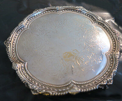 Martin Hall Victorian Silver footed silver salver plate