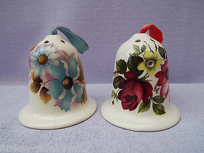 Vintage Two Bell Shaped Pomander Pot Pourri Room Wardrobe Fragrance Air Fresh