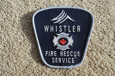 """Whistler Fire Rescue Service Patch (Whistler B.c.canada)  **new** Appx. 4"""" X 4"""""""