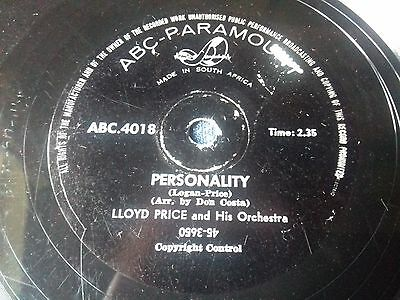 Lloyd Price & Orchestra , Rare South Africa  Press , Personality