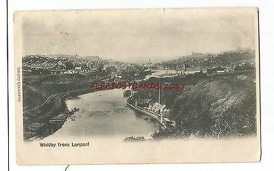 Yorks Whitby from Larpool 1906 Vintage Postcard 17.3