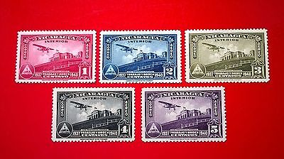 1940 - Nicaragua Airmail stamps