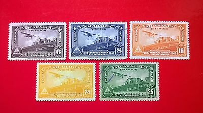 1940 - Nicaragua Airmail stamps - higher values